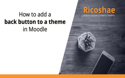 How to add a back button to a theme in Moodle