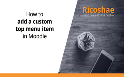 How to add a custom top menu item in Moodle