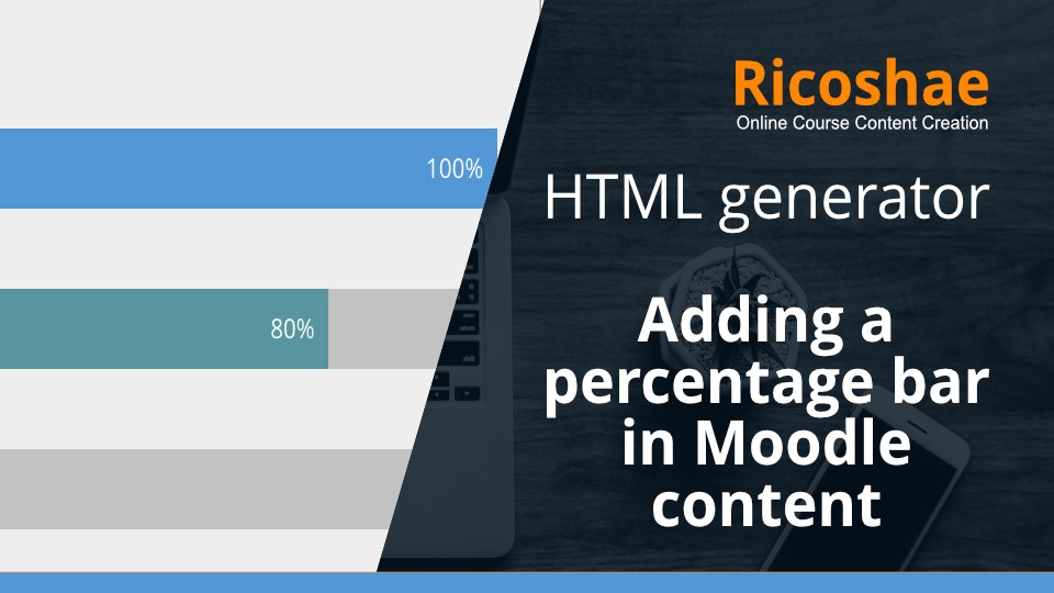 Percentage bar generator for Moodle