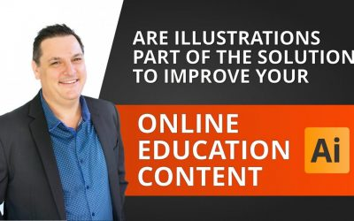 Will adding Illustrations IMPROVE web based ONLINE EDUCATION CONTENT?
